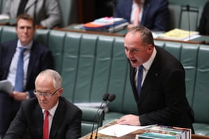 Barnaby Joyce during question time.