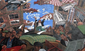 The Cable Street Mural in London's East End.