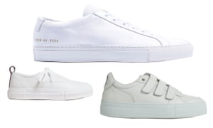Training ground: Common Projects, AMI and Eytys sneakers.