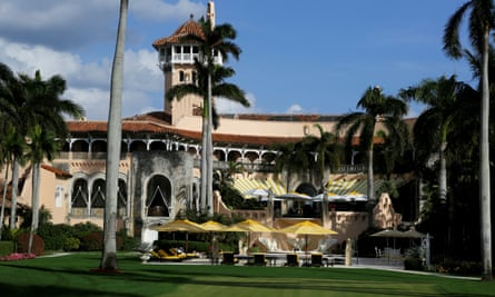 Trump's Mar-a-Lago estate in Palm Beach ... were the nursery tiles really made by Walt Disney?Photograph: Joe Skipper/Reuters