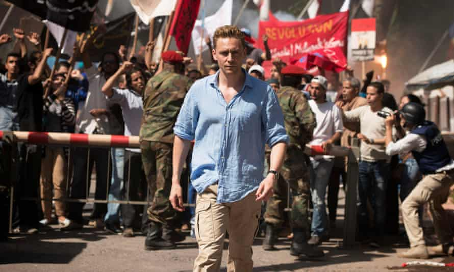 Up all hours: Hiddleston in the BBC's new spy thriller The Night Manager, based on the John le Carré novel.