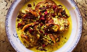 The Persian version: braised lamb with turmeric and yogurt.