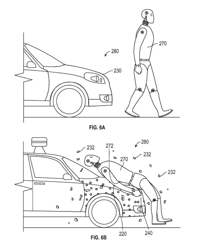 Google patents \'sticky\' layer to protect pedestrians in self-driving ...
