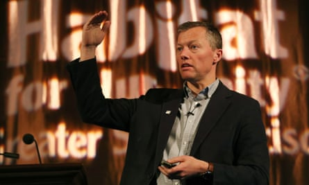 Matthew Desmond speaks in San Francisco, California, on 2 November 2018.