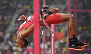 Mutaz Essa Barshim jumps a PB.