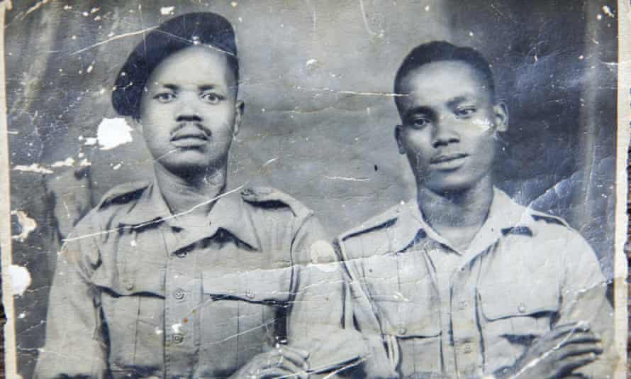 Eusebio Mbiuki (left) in a photo taken in the 1940s.