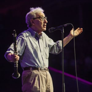 Woody Allen and his clarinet at the Royal Albert Hall