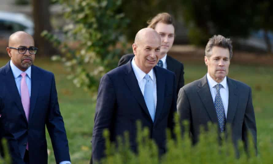 Gordon Sondland arrives at the US Capitol 17 October 2019 to appear before Congress for a closed deposition on the Ukraine scandal.