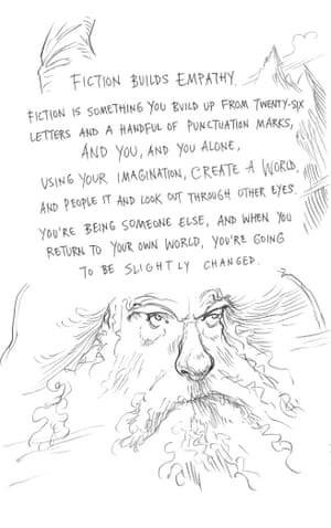 Page seven of Neil Gaiman and Chris Riddell's book Art Matters. ART MATTERS by Neil Gaiman, illustrated by Chris Riddell is published by Headline on 6th September