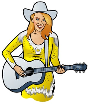 Cowboy style: Kylie's Parton gift to us.