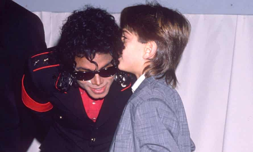 Michael Jackson and James Safechuck in London, 1988.