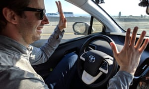 Anthony Levandowski demonstrates the capabilities of his advanced driver assistance system (ADAS) called Co-Pilot.