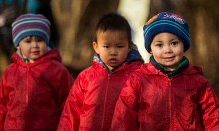 Children from Castlemilk, Glasgow, on an outdoor adventure