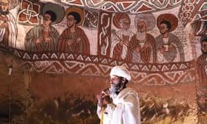 A priest at Abuna Yemata church in northern Ethiopia.