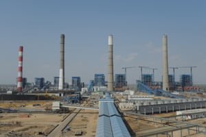 Adani Power company thermal power plant at Mundra, India.