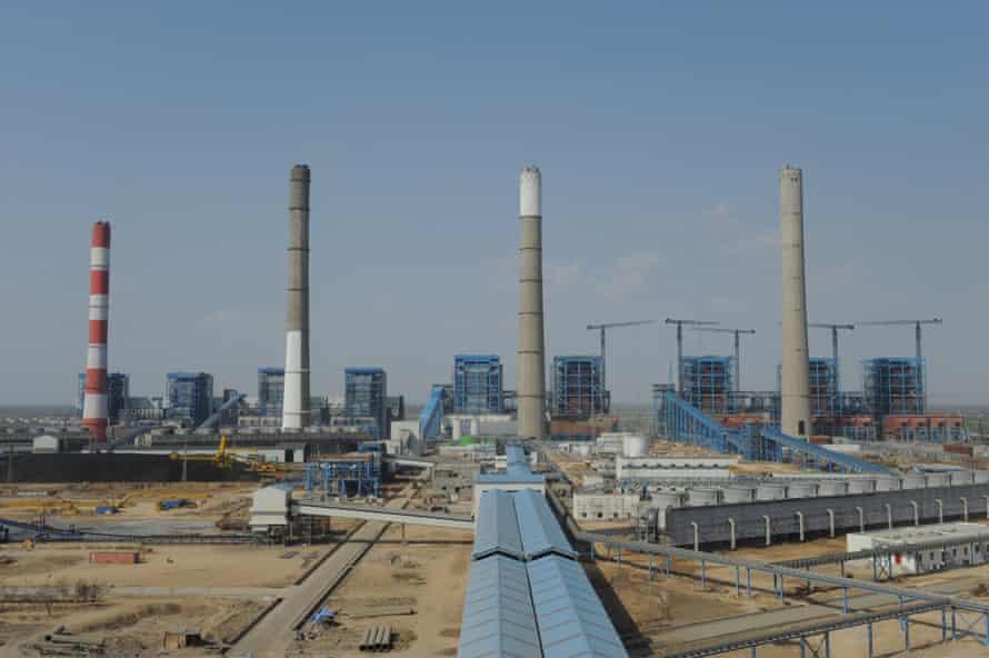 Adani Power company thermal power plant at Mundra, India.