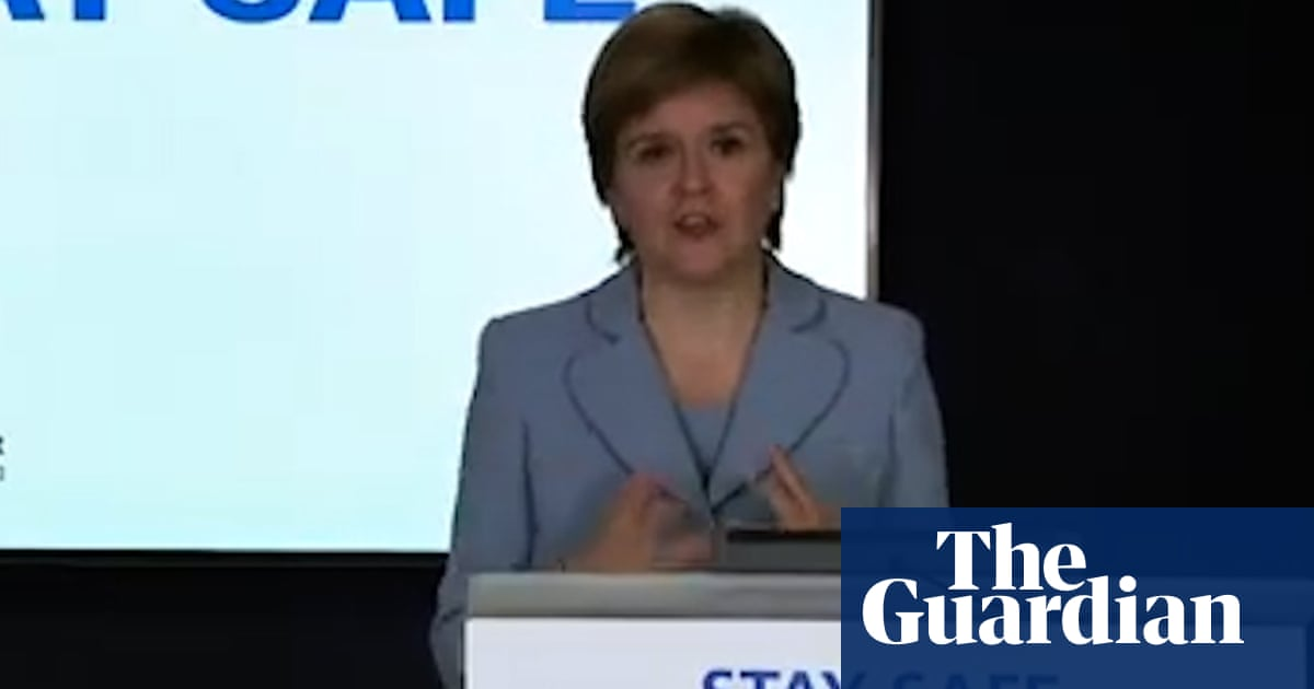 Sturgeon admits link between Euro fans travelling and rise in Covid cases – video