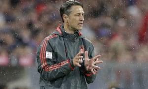 Bayern coach Niko Kovac on the touchline against Hoffenheim