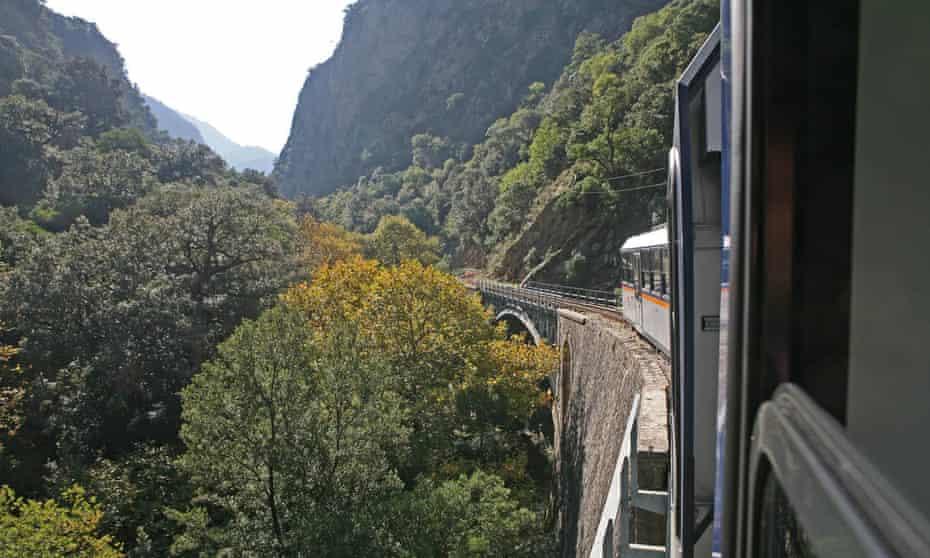 Vouraikos gorge on the Kalavryta to Diakofto railway, Greece