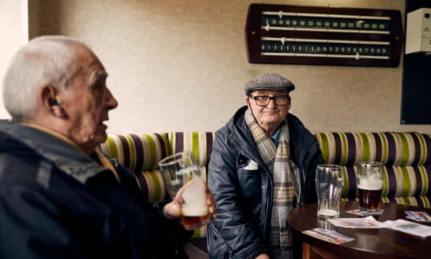 Members drinking at the Royal British Legion in Penistone, South Yorkshire in the parliamentary constituency represented by Angela Smith.