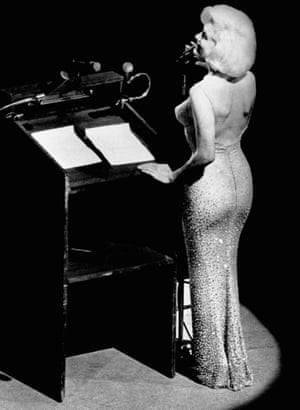 "Marilyn Monroe sang ""Happy birthday, Mr President"" to John F Kennedy at New York's Madison Square Garden, 1962."