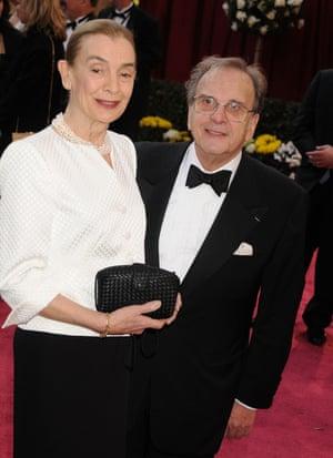 Harwood and his wife, Natasha, at the Oscars in 2008.