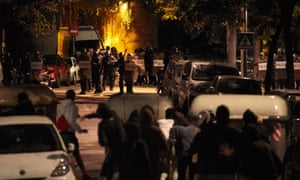 Catalan independence supporters clash with anti-riot police