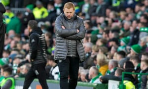Celtic's interim manager Neil Lennon during the match against Aberdeen.