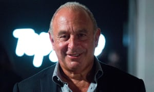 Sir Philip Green has not been in the UK since October.