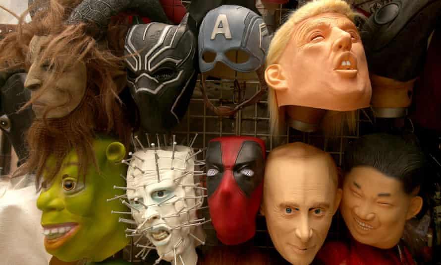 Masks of world leaders