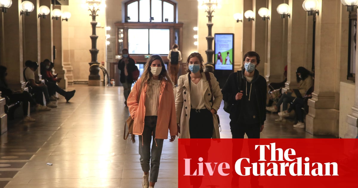 Coronavirus live news: three more Welsh counties face local lockdowns; concern over clusters at French schools – The Guardian