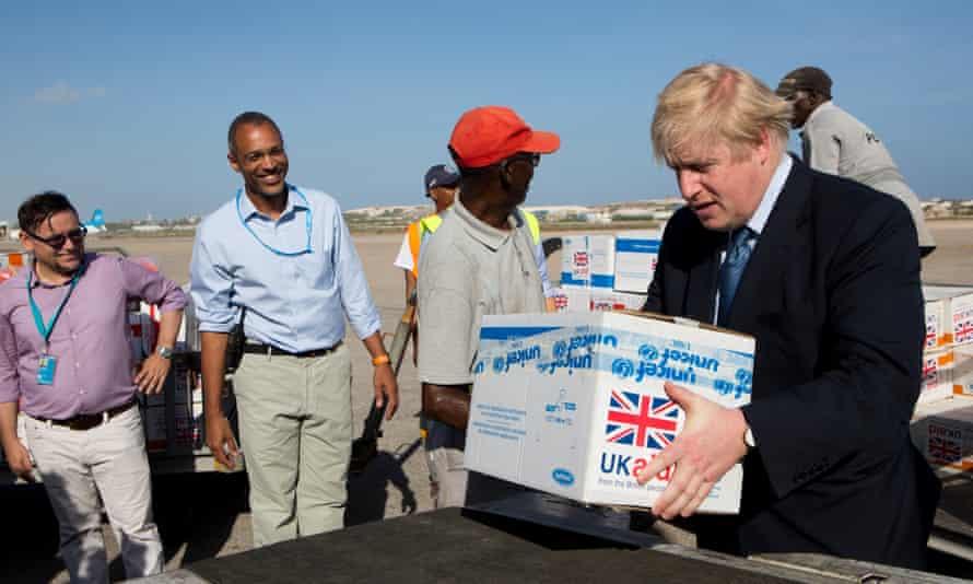 Boris Johnson in Somalia