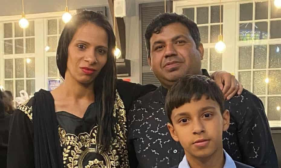 Waris Ali and his wife Edina Olahova and their son Rana Haris Ali.