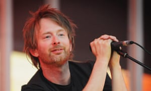 Thom Yorke of Radiohead performs during the first of two dates at London's Victoria Park in support of In Rainbows, 24 June 2008.
