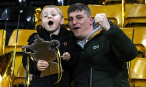 A couple of Wolves supporters during their team's FA Cup quarter-final victory over Manchester United at Molineux. Next stop - Wembley