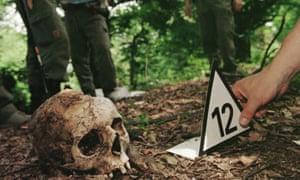 remains of Srebrenica victims