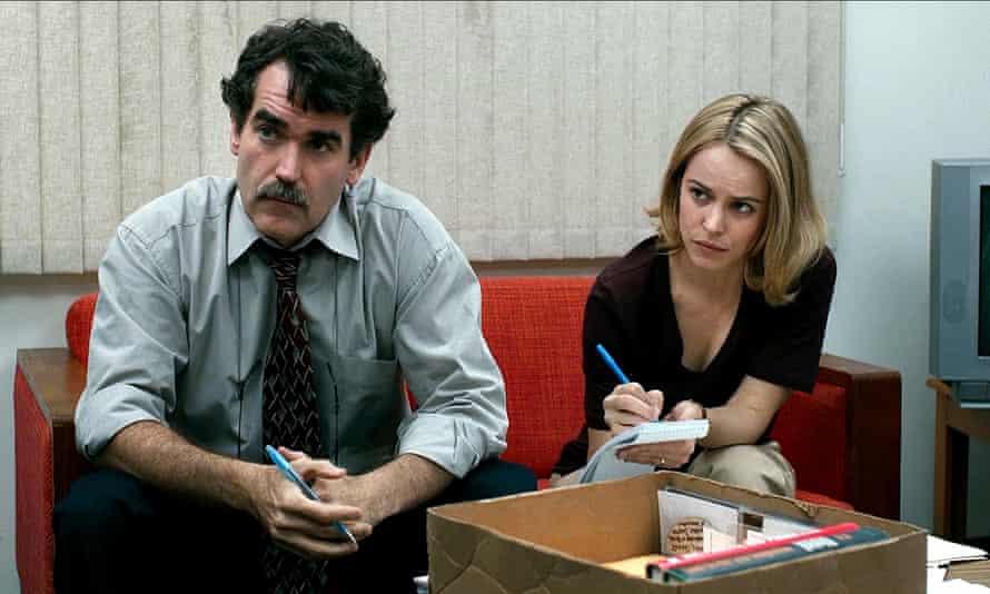 Brian d'Arcy James and Rachel McAdams in Tom McCarthy's Spotlight.