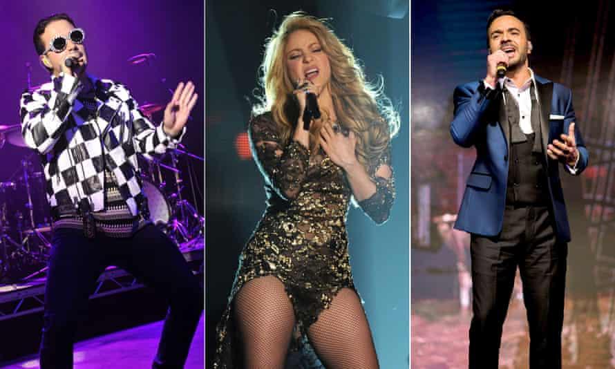 J Balvin, Shakira and Luis Fonsi
