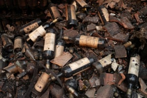 Wine bottles at Castello di Amorosa were destroyed in the Glass fire.