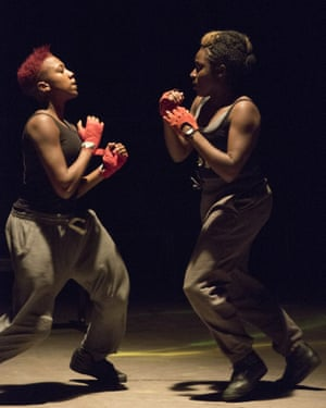 Wokoma (right) with Jade Anouka in Donmar's all-female Henry IV.