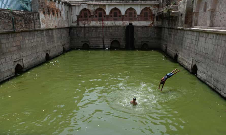 A full baoli or a step-well at Nizamuddin Dargah, New Delhi. Traditional resources such as these wells are being neglected, say activists.