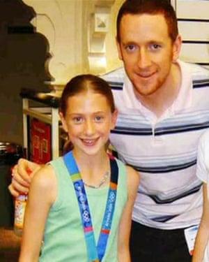 Laura Trott and Bradley Wiggins in 2004.