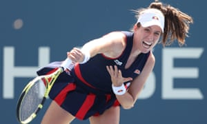 Johanna Konta won the first set but threw away her advantage in second-round defeat against Soran Cirstea at the US Open.