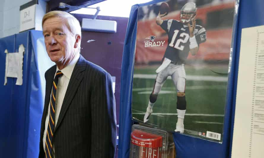 Bill Weld arrives to cast his vote in the 2016 election in Canton, Massachusetts on 8 November 2016.