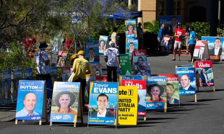 Pre-polling booth in the Queensland electorate of Lilley, during the 2019 federal election