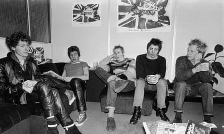 Malcolm McLaren, left, with the Sex Pistols in 1976.
