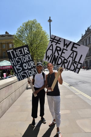 Protesters in London on 5 May.