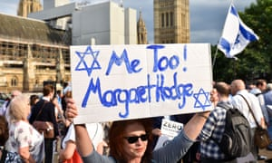Labour antisemitism protest in London