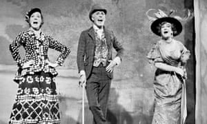 Bruce Forsyth with Julie Andrews, left, and Beryl Reid on stage at Brixton music hall.