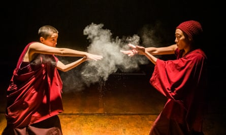 'If we become violent, we lose everything' ... Zachary Hing and Gabby Wong in Pah-La.